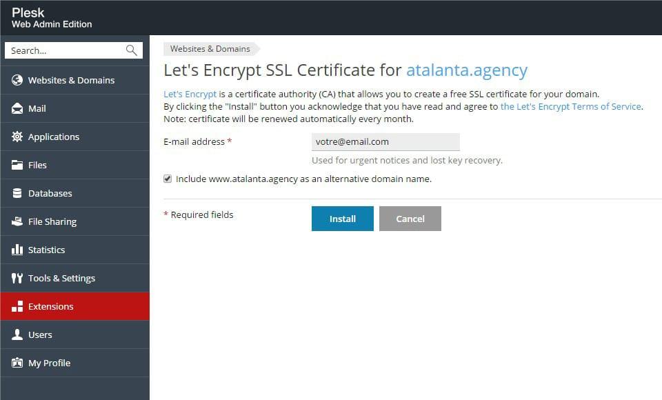 créer certificat ssl